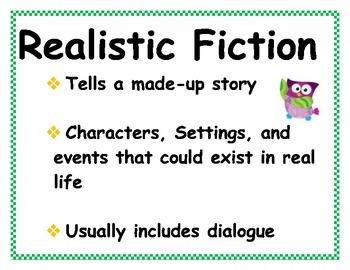 Owl Themed Fiction & Nonfiction Genre Cards