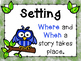 Owl Themed Fiction Story Element Posters w/Interactive Not