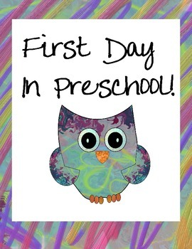 Owl Themed First Day in Preschool Signs