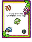 Owl-Themed First Day of School Treat Tags