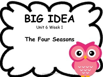 Owl Themed Focus Wall for Wonders Reading Kindergarten Unit 6 & 7