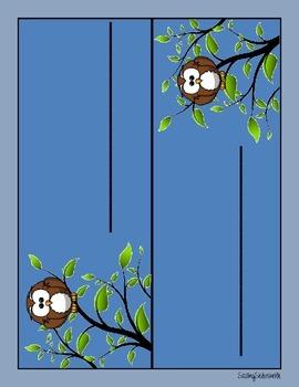 Owl Themed Folder