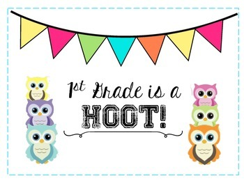 """Owl Themed """"Grade is a Hoot"""" Poster"""