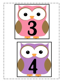 Owl Themed Growing Number Line