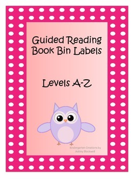 Owl Themed Guided Reading Bin Labels
