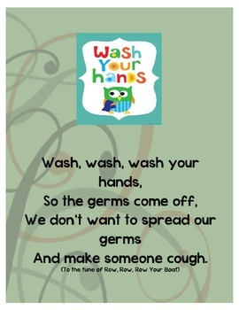 Owl Themed Hand Washing Sign with Poem