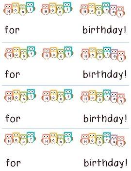 Owl Themed Happy Birthday