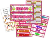Owl Themed Happy Birthday Display with Poster
