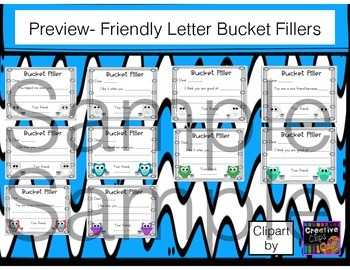 Owl Themed Have You Filled a Bucket Today Labels and Forms