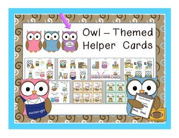 Owl Themed Helper Cards for Classroom Jobs