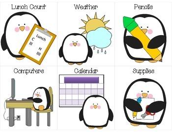 Penguin Themed Helper Cards for Classroom Jobs