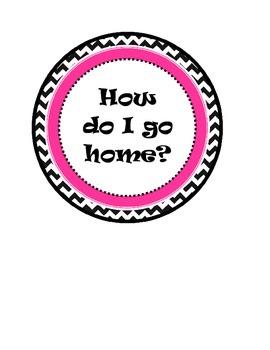 Owl Themed How Do I Go Home Clip Chart