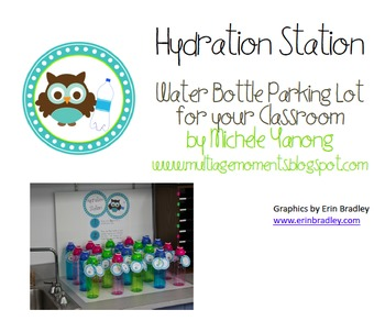 Owl Themed Hydration Station - Water Bottle Parking Lot