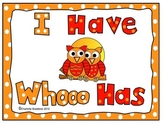 Owl Themed: I Have Who Has Capital and Lower Case Letters Game or Activity