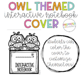 Owl Themed Interactive Notebook Cover