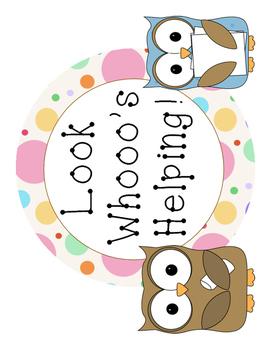 Owl Themed Job Chart