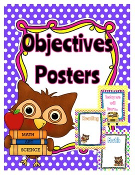 Learning Objectives Printables - Owl Theme