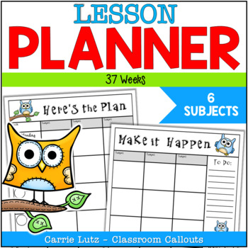 Owl Themed ~ Lesson Plan Book