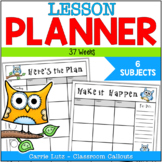 Owl Themed ~ Lesson Plan Book (37 Weeks)