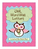 Owl Themed Letters for Word Wall