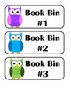 Owl Themed Library Label System