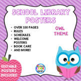 Owl Themed Library Poster Set