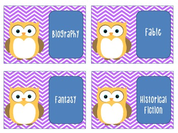 Owl Themed Library Tags