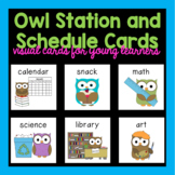 Owl Literacy Station Labels
