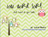 Owl Themed Long O Word Sort {o spelled OW}