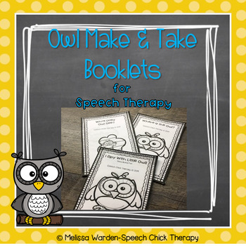 Owl Themed Low Prep Language Booklets for Speech Therapy