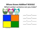 Owl Themed Math Boggle