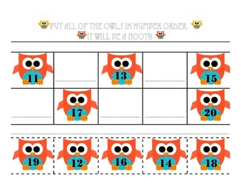 Owl Themed Math Differentiated Activities