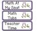 Owl Themed Math Rotation Board