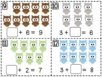 Owl Themed Math and Literacy Centers