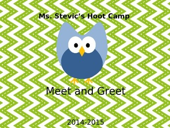 Owl Themed Meet & Greet  Power Point