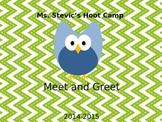 Owl Themed Meet & Greet  Power Point