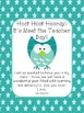 Owl Themed Meet the Teacher Welcome