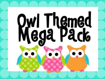 Owl Themed Mega Pack