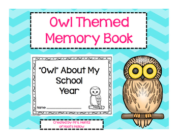 End of Year Owl-Themed Memory Book
