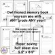 Memory Book - Any Grade - Any Year - 1/2 page (Owl theme)