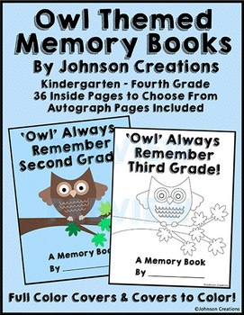 Owl Themed Memory Books