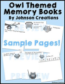 Owl Themed Memory Books