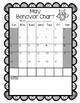 Owl Themed Monthly Behavior Calendars (editable)