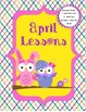 Owl Themed Monthly Lesson Plan Dividers, Important Days, a