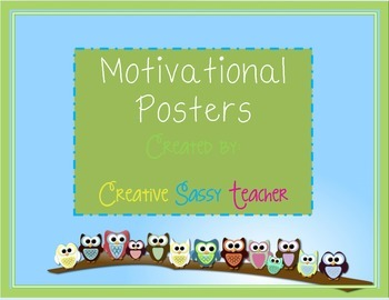Owl Themed Motivational Posters