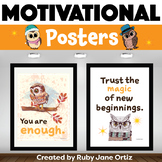 Owl Classroom Theme - Posters for Back to School Bulletin Boards