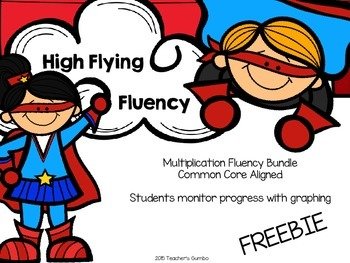 Free Multiplication Fluency Pack Preview
