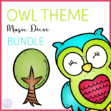 Owl Theme Music Classroom Decor Bundle