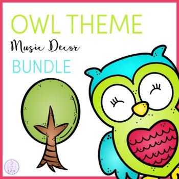 Owl Theme Music Classroom Decor