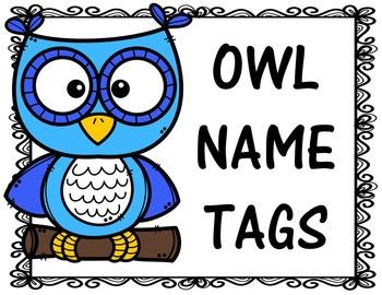 Owl Themed Name Tags